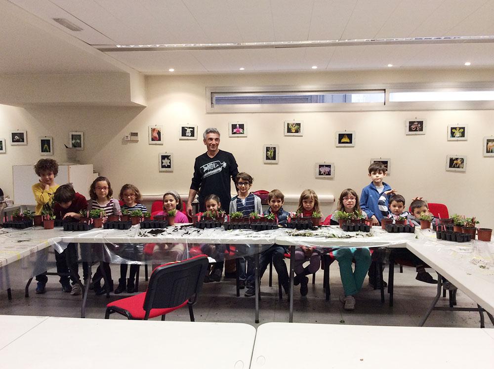 taller infantil de jardinería