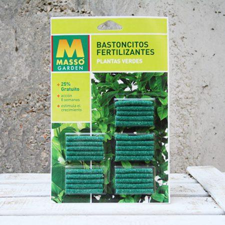 Masso Bastones Fertilizantes Planta Verde.