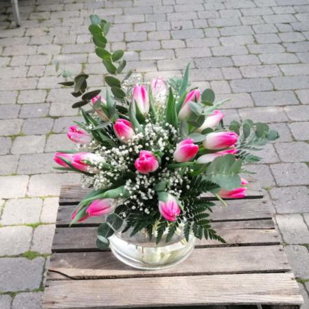 Ramo de tulipanes rosa