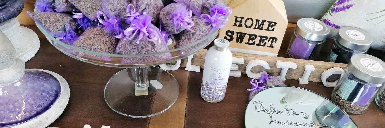 Aceite esencial lavanda y bolsitas de lavanda para perfumar cajones